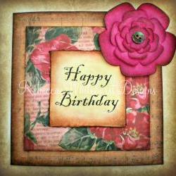 Rustic Style Birthday Card